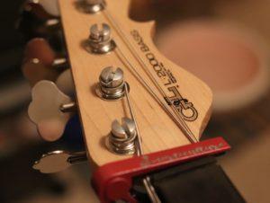 Bass Guitar String Tree Installation