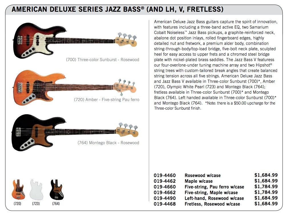 American Deluxe Jazz Bass