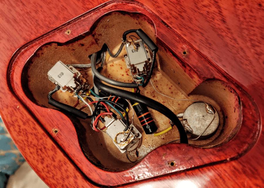 Jimmy Page Les Paul electronics cavity