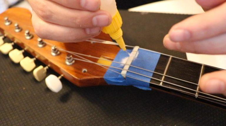 Repair a Guitar Nut